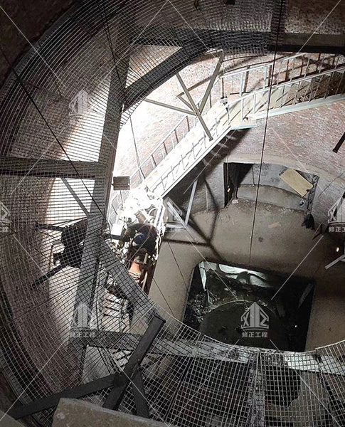 淄博傅山项目烟囱及钢架改造工程顺利竣工