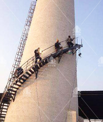混凝土烟囱安装爬梯