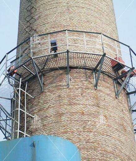 砖烟囱安装爬梯