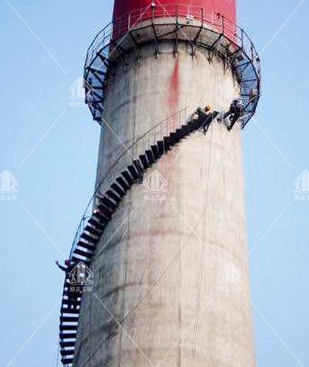 水泥烟囱安装旋转爬梯