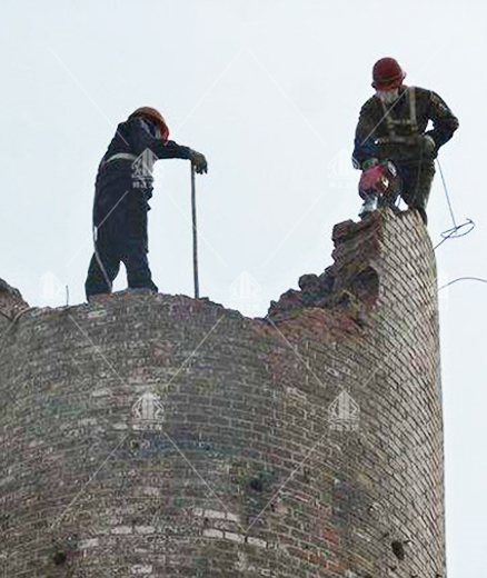 砖混烟囱拆除