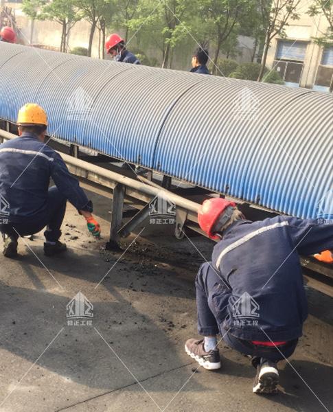 盘景水泥钢构件防腐工程如期开工啦!